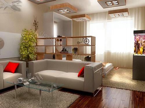 Однокомнатная квартира дизайн 19 кв.м