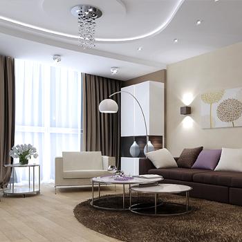 Косметический ремонт гостиной и зала