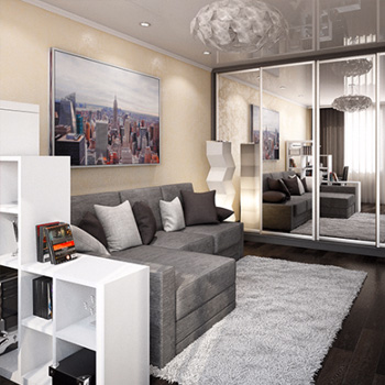 Элитный ремонт однокомнатной квартиры