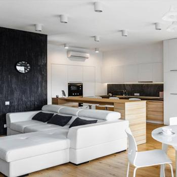 Элитный ремонт квартиры-студии в новостройке