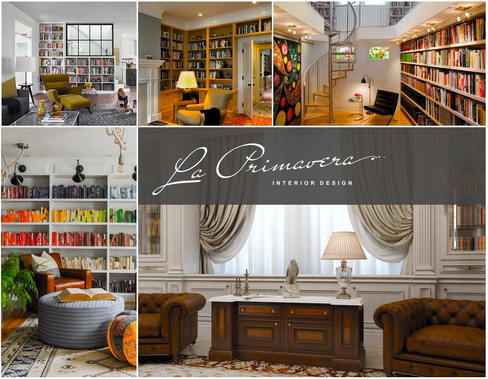 Элитный ремонт библиотеки дома: фото