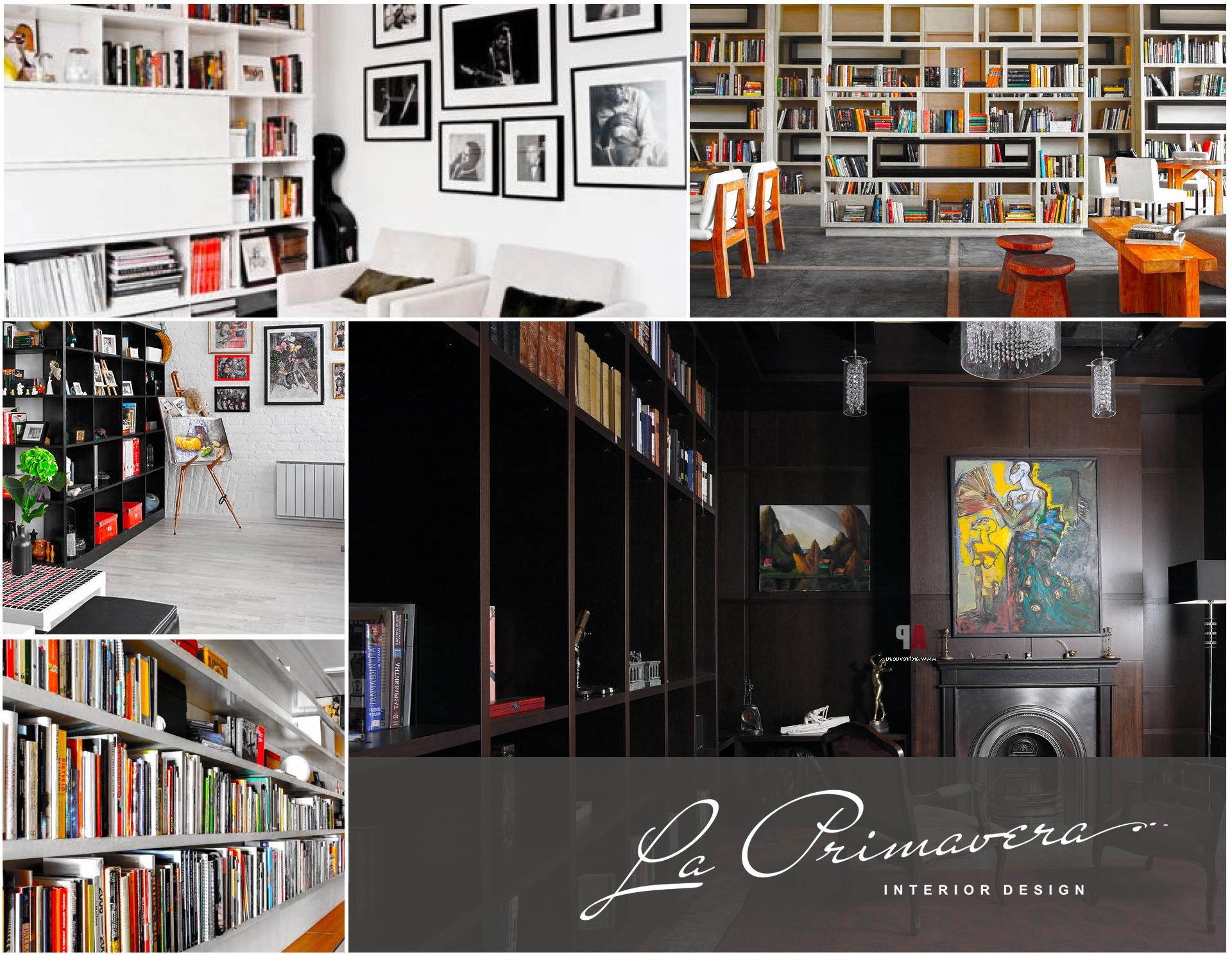 Фото элитного ремонта библиотеки в частном доме и квартире