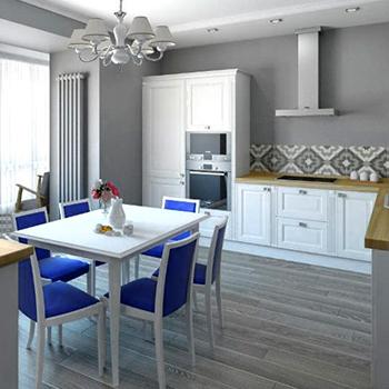 Заказать косметический ремонт кухни-гостиной