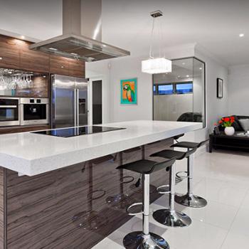 Элитная отделка кухни-гостиной