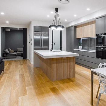 Элитный ремонт кухни-гостиной под ключ