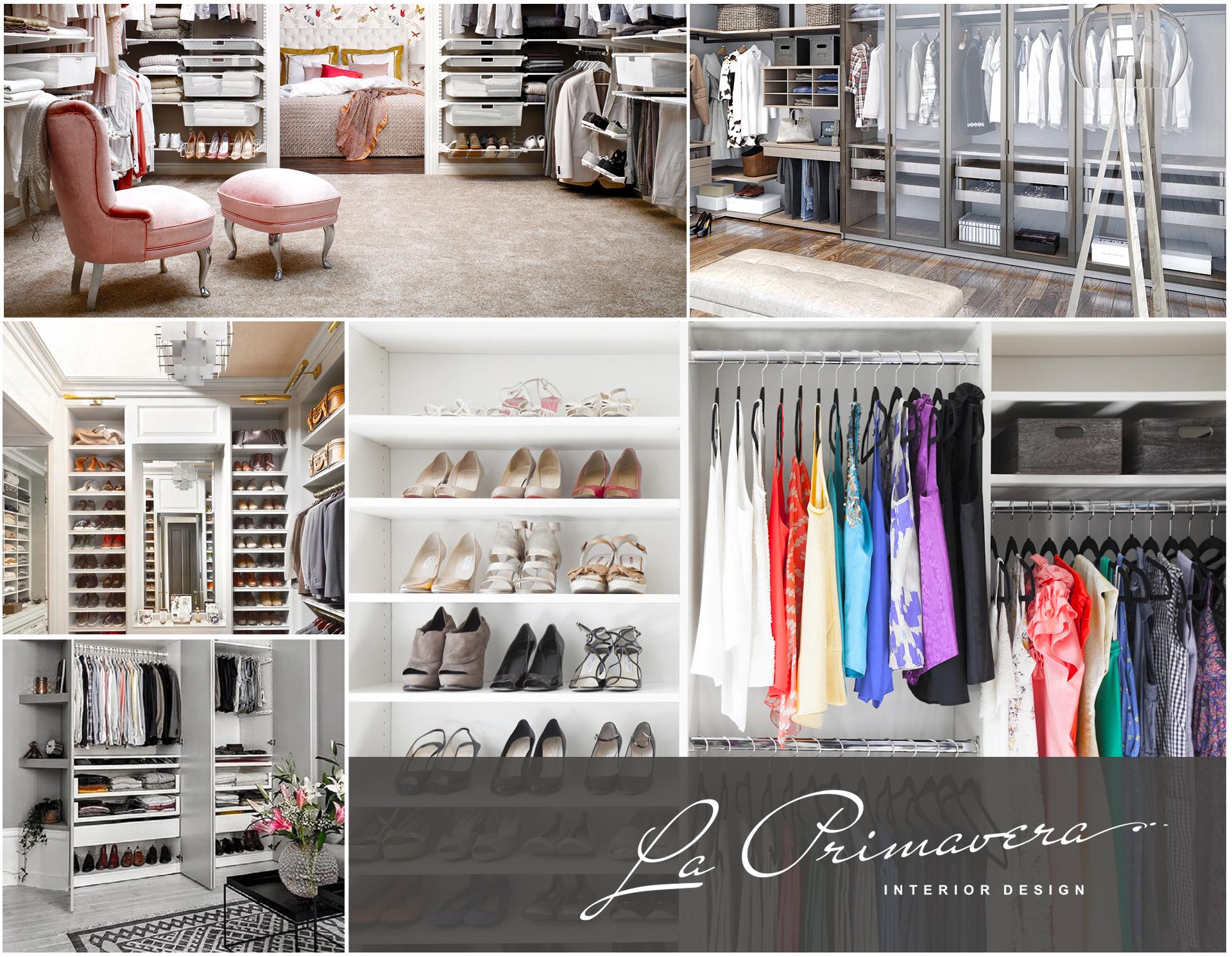 Элитный ремонт гардеробной: фото студии La Primavera
