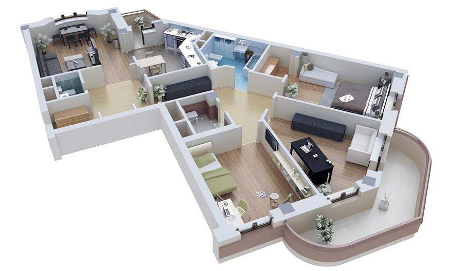 Дизайн-проект квартиры в новостройке
