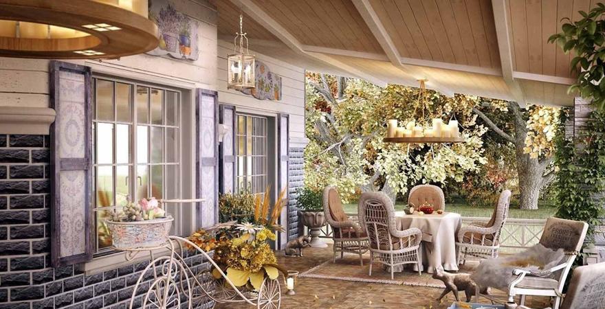 Дизайн загородного дома в стиле прованс