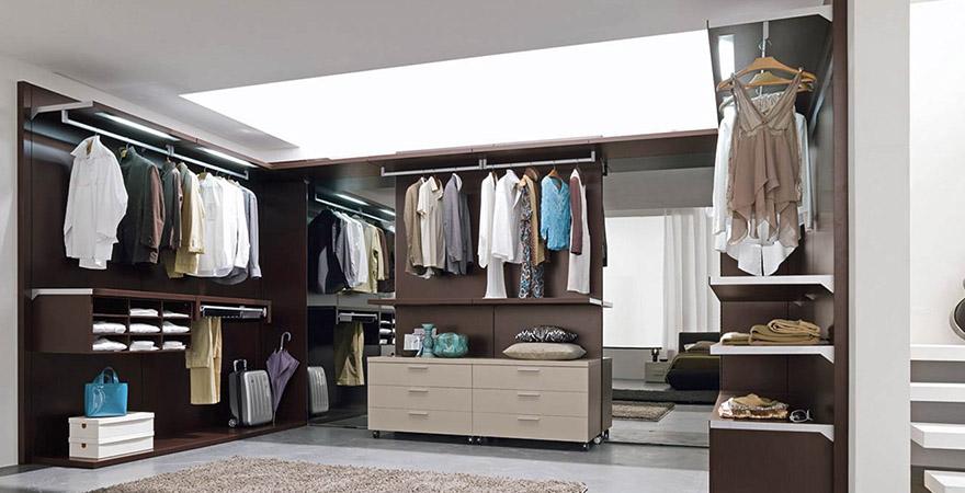 Дизайн гардеробной комнаты: стили и системы хранения