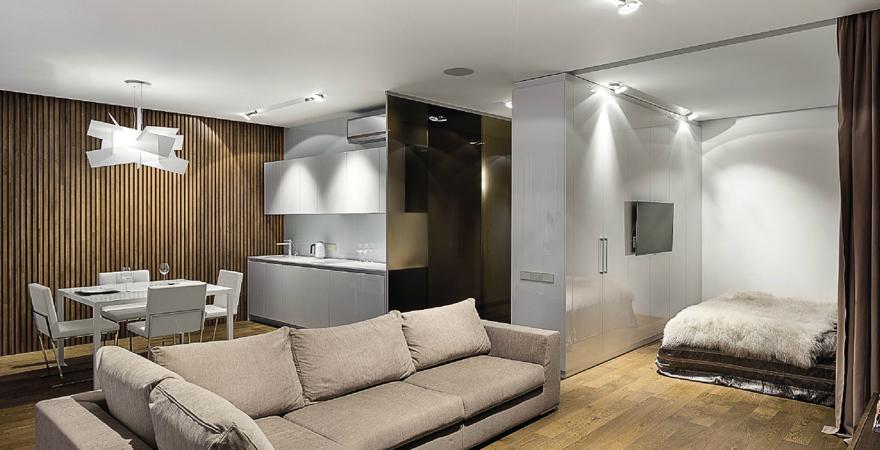 Дизайн интерьера квартиры-студии: планировка, зоны, нюансы оформления