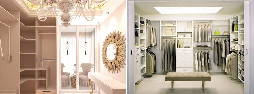Стили дизайна гардеробной комнаты