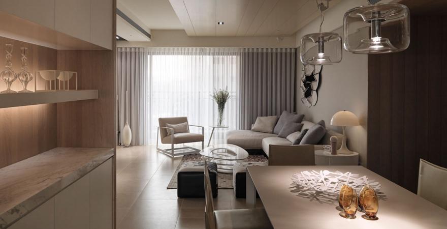 Дизайн апартаментов в современном стиле (контемпорари)