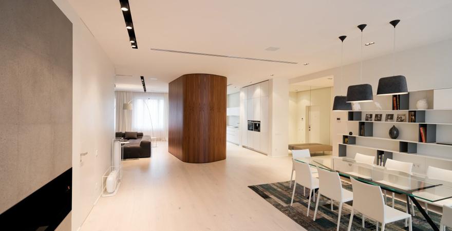 Минимализм в интерьере элитной квартиры