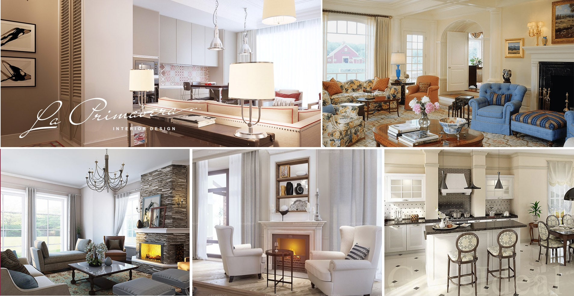 Дизайн интерьера дома в американском стиле