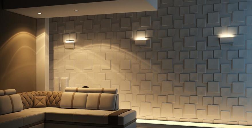 Элитный ремонт квартиры с использованием 3D-панелей