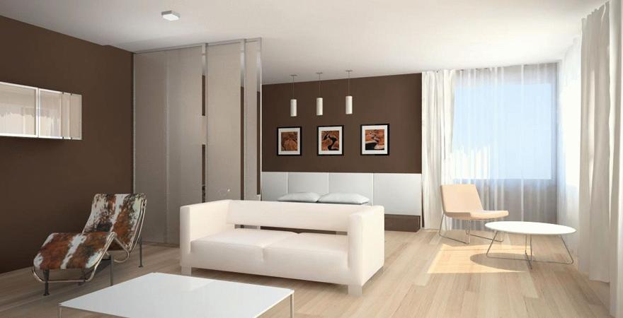 Дизайн апартаментов в стиле минимализм