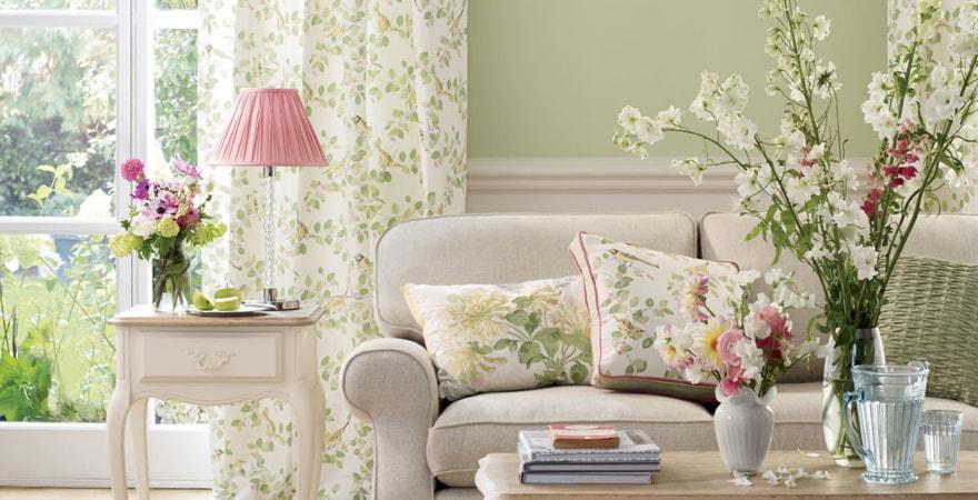 Цветы в интерьере дома в стиле прованс