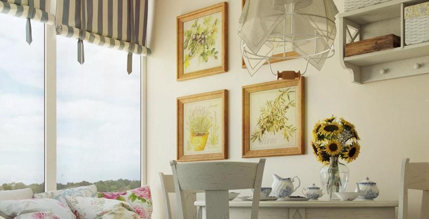 Картины в интерьере в стиле прованс
