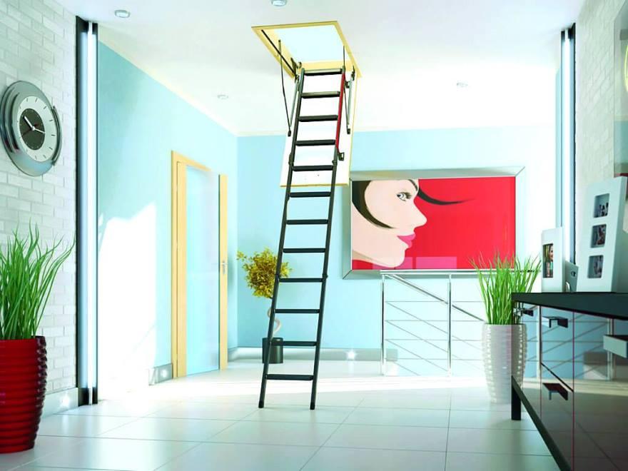 Складная мансардная лестница