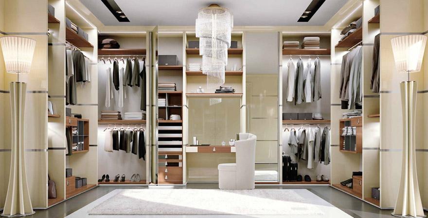 Интерьер гардеробной в стиле арт-деко