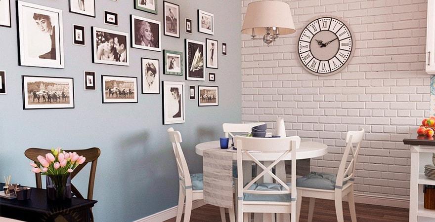 Оштукатуренные стены в дизайне в стиле прованс