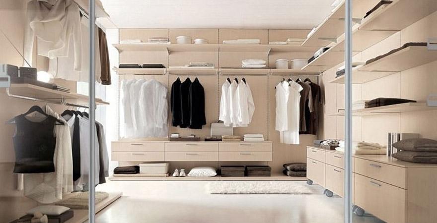 Дизайн гардеробной комнаты в стиле модерн
