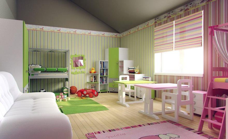 Детская комната на мансардном этаже: главное – безопасность