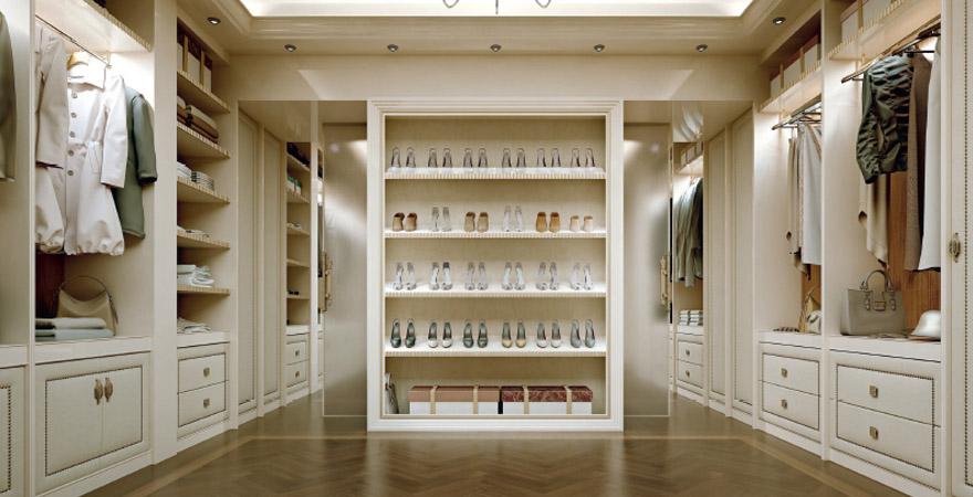 Дизайн гардеробной в американском стиле