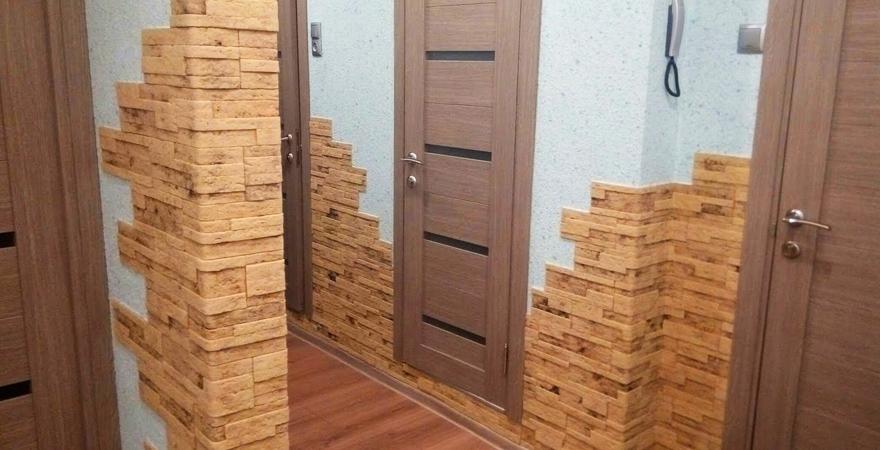 Современный ремонт квартир, гибкий камень
