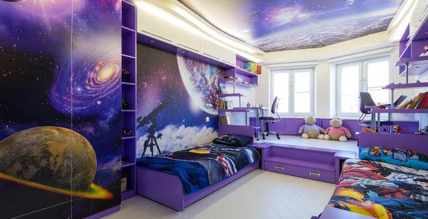 Ремонт детской комнаты в космическом стиле