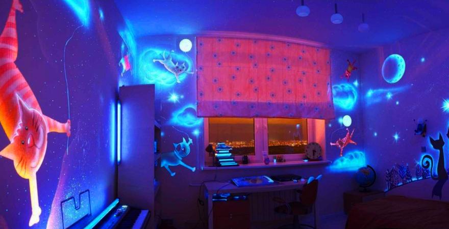 Светящаяся краска в ремонте квартир