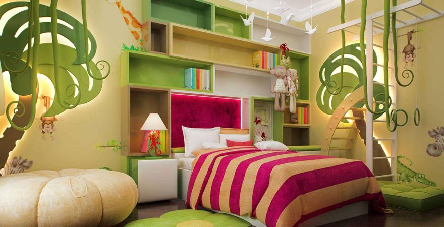 Ремонт детской комнаты в стиле джунглей