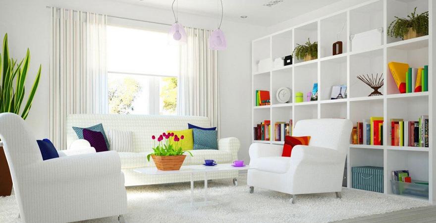 Дизайн дома в белом цвете