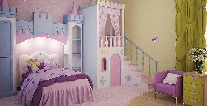Ремонт детской комнаты в стиле принцесс