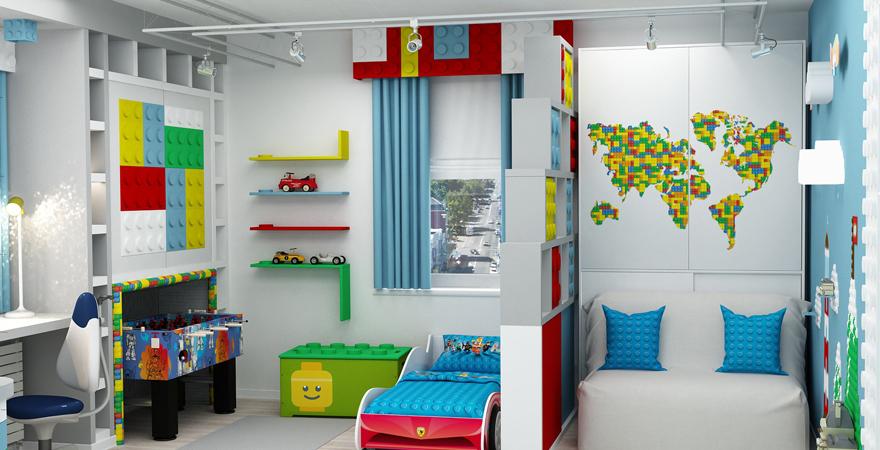 Ремонт детской комнаты в стиле лего