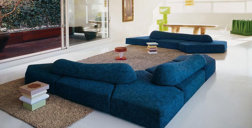 Ассиметричная мебель в современном дизайне дома