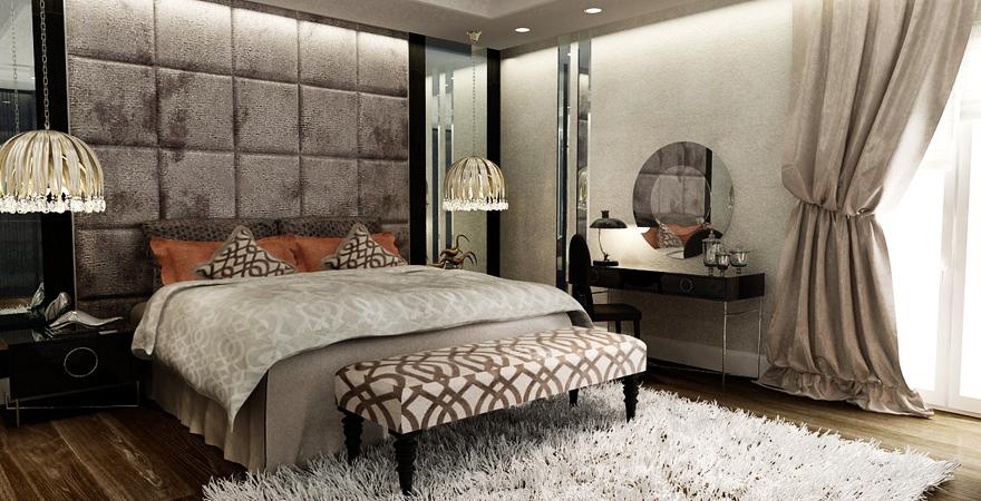 Интерьер спальни в стиле арт-деко-3