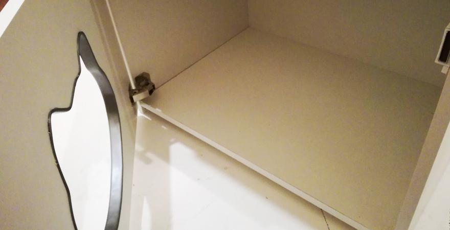 Кошачий лоток в шкафчике
