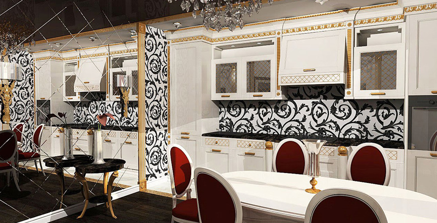 Дизайн кухни в стиле арт-деко-3