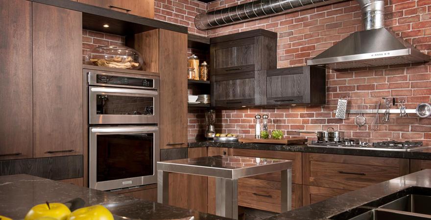 Кухня в стиле лофт-1