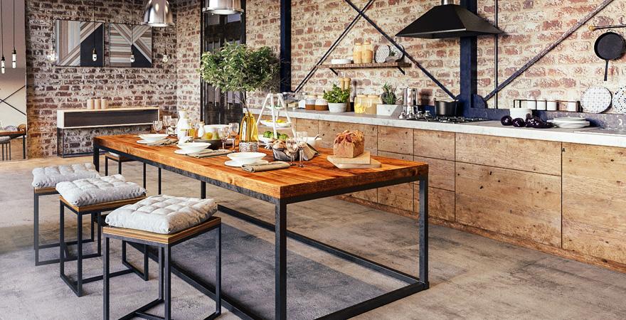 Кухня в стиле лофт-3