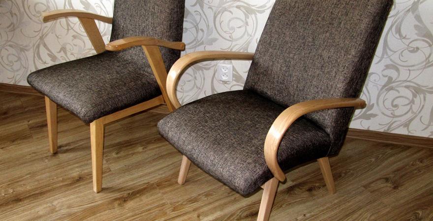 Советские кресла с новой обивкой