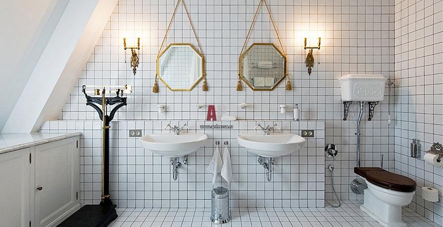 Современная ванная в советском стиле