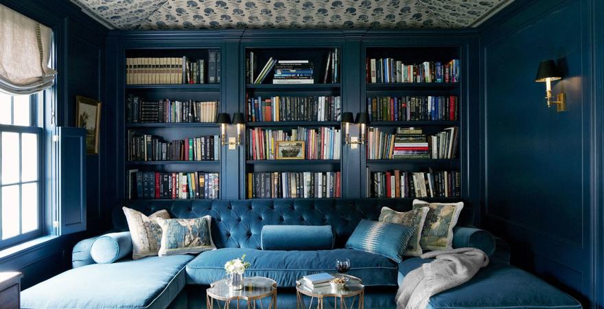 Встроенные книжные шкафы