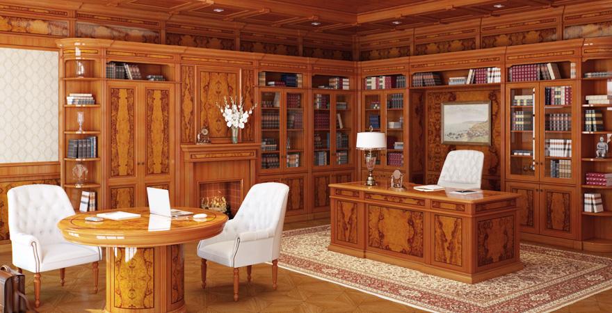 Кабинет-библиотека в английском стиле