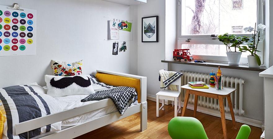 Детская комната в скандинавском стиле для мальчика