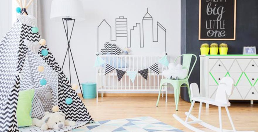 Древесина в детской комнате в скандинавском стиле