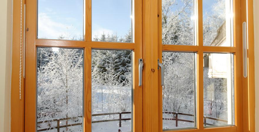 Отреставрированные деревянные окна