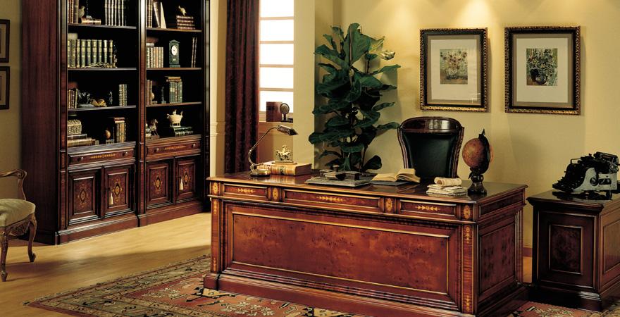 Декоративная штукатурка в кабинете в английском стиле