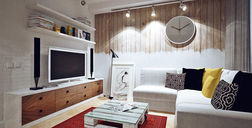 Идеи ремонта маленькой гостиной